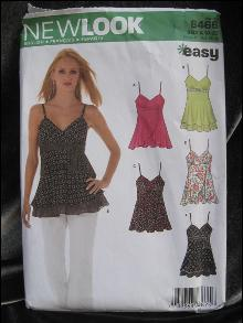 New New Look Simplicity 6466 Sexy Misses'  Summer Top Sewing Pattern