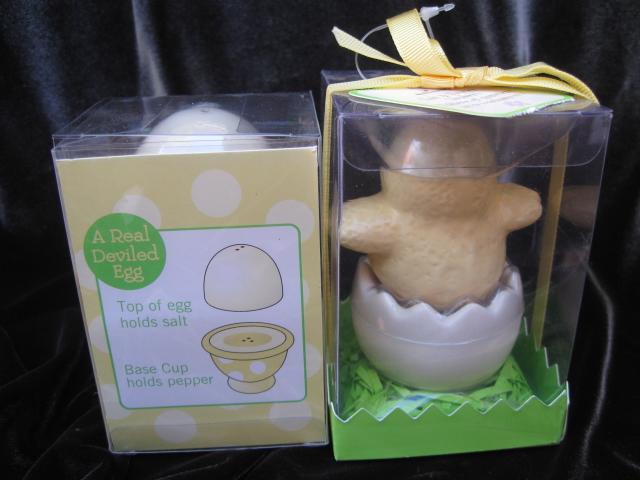 Lot of 2 New Hallmark Spring & Summer Chick & Eggs Salt & Pepper Shakers