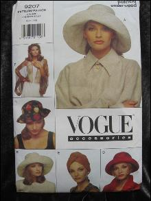 New Vogue 9207 Accessories Hats & Bolero Sewing Pattern