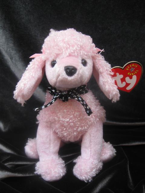 Ty Brigitte The Pink Poodle Dog Retired Beanie Baby