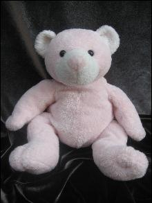 Ty Pluffie Pudder The Pink Teddy Bear Plush