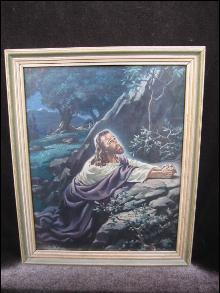 Christ in Gethsemane  1941 Print By Warner Sallman