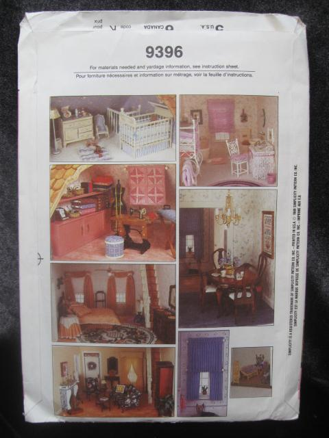 New Vintage Simplicity Crafts 9396  Doll House Kit