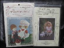 2 Doll Sewing Patterns Buttons & Bo 16