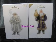 Hallmark 2012 2 Father Christmas Limited Quantity & 9th In Father Christmas Ornament