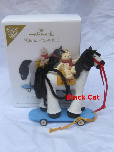 Hallmark 2012 A Pony For Christmas Repaint  Limited Quantity Christmas Tree Ornament