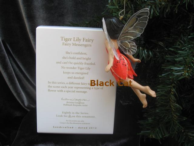 Hallmark 2012 Tiger Lily 8th In The Fairy Messenger Series Christmas Tree Ornament