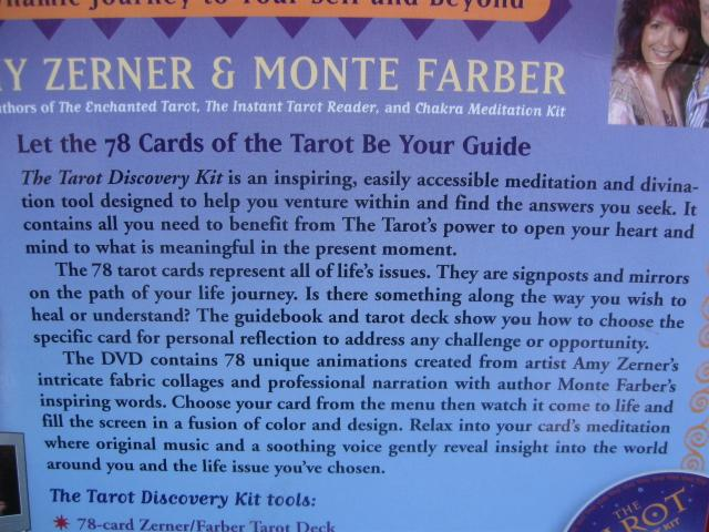 The Tarot Discovery Kit By Amy Zerner & Monte Farber
