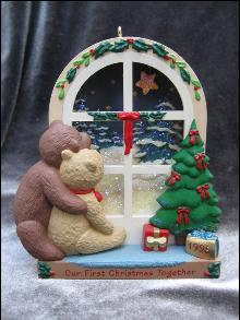 Hallmark 1995 Our First Christmas Together Bears Christmas Ornament