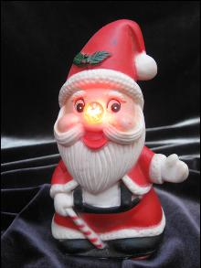 Vintage Santa Claus With Blinking Nose