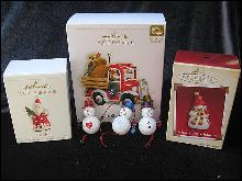 Lot of 6 Hallmark Ornaments - Hallmark 2006 Happy Haulers + 5 more