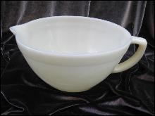 Vintage Ivory Fire King Batter Bowl