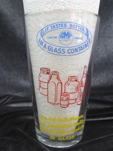 Vintage Libby Advertising Measuring Glass GMP In A Glass Union Made