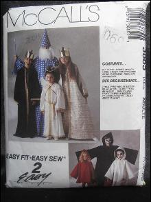 McCall's 3885 Adult Wizard, Angel King Queen Halloween Costume Sewing Pattern
