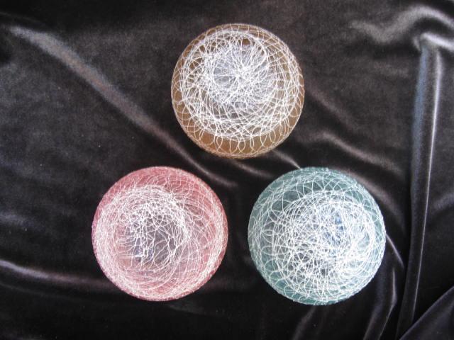 3 Spaghetti String Glamalite Rubber Highball Tumblers