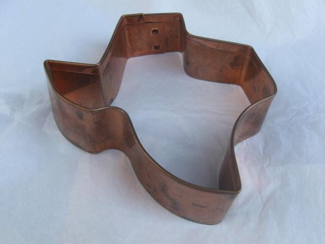 Large Copper State Of Texas Cookie Cutter