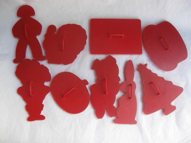 Lot of 9 Vintage  Tupperware Cookie Cutters  American Flag