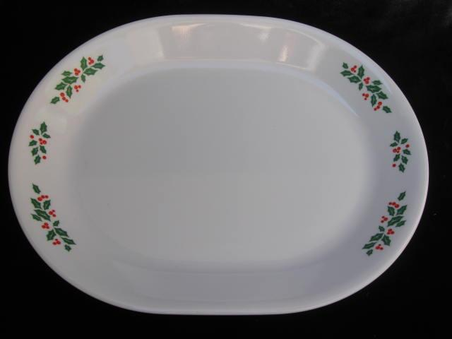 Christmas Holly Days Platter Corning Corelle Pyrex