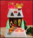 Hallmark 2009 Merry Christmas  Caroling Cottage 4th In  Caroling Cottages Series Magic Light & Sound Display