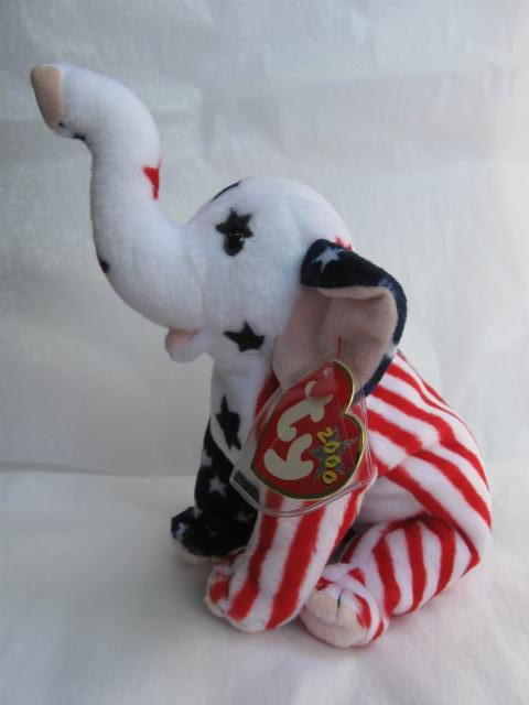 Ty Righty 2000 The Republican Elephant Beanie Baby Retired