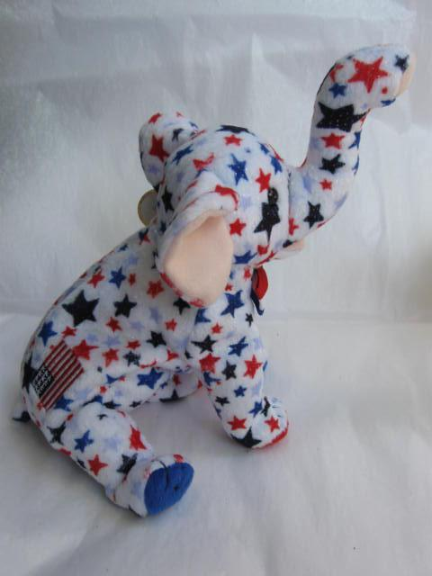 Ty RIGHTY  2004 The Republican Elephant Retired Beanie Baby