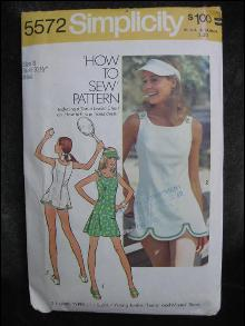 Vintage Simplicity 5572 Misses Tennis Dress Sewing Pattern Size 8