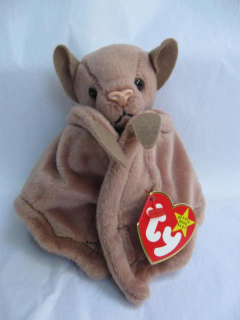 Ty  Batty The Bat Version I - Brown Batty Retired Beanie Baby