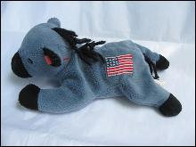 Ty Original Lefty The Democratic  Donkey  Retired Beanie Baby