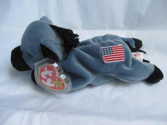 Ty Original Lefty The Democratic  Donkey  Retired Beanie Baby