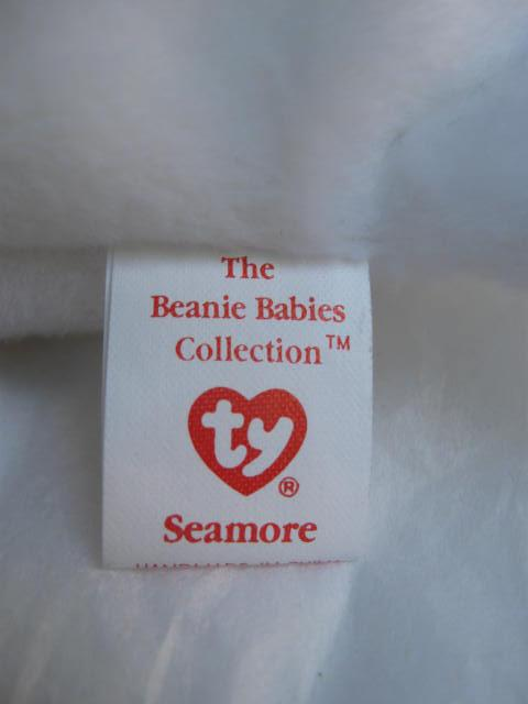 Ty Seamore The White Seal  Retired Beanie Baby MWMT's