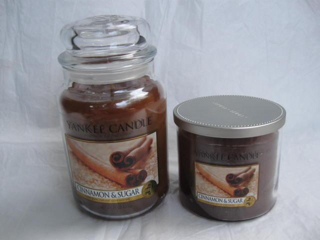 Two (2) New  Yankee Candles Cinnamon & Sugar Candles
