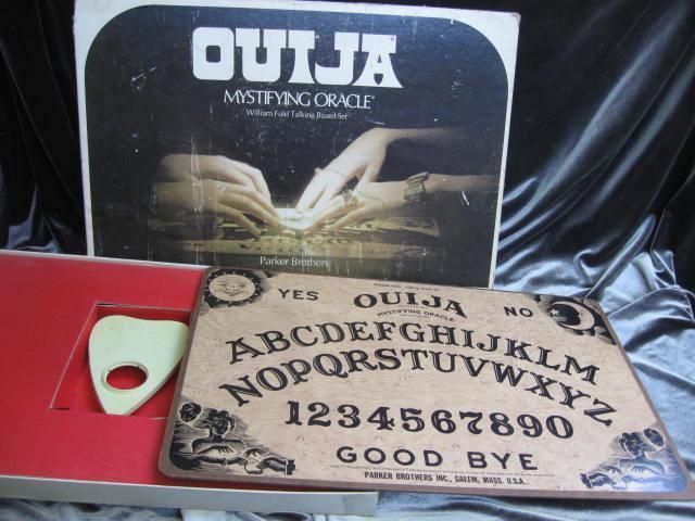 Vintage  Halloween William Fuld Talking Board Set Ouija Board Salem Mass.