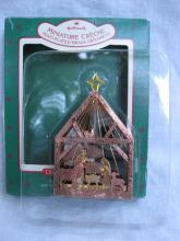 Hallmark 1987 Miniature Creche Nativity #3 In Miniature Creche Series Multi-plated Brass Christmas Tree Ornament