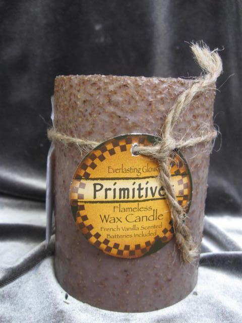 New Primitives Everlasting Glow Flameless Wax Candle French Vanilla