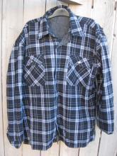 New Marlboro Reversible Western Jacket Shirt Denim Flannel Black & White
