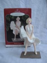 Hallmark 1998 Marilyn Monroe White Dress #2 In Series Christmas Tree Ornament