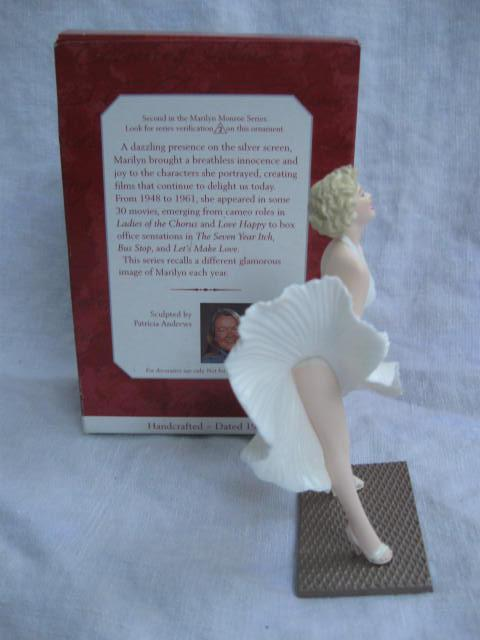 Hallmark 1998 Marilyn Monroe White Dress #2 In Series Christmas Tree Ornament
