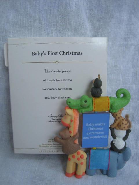 Hallmark 2006 Baby's First Christmas Photo Holder Christmas Tree Ornament