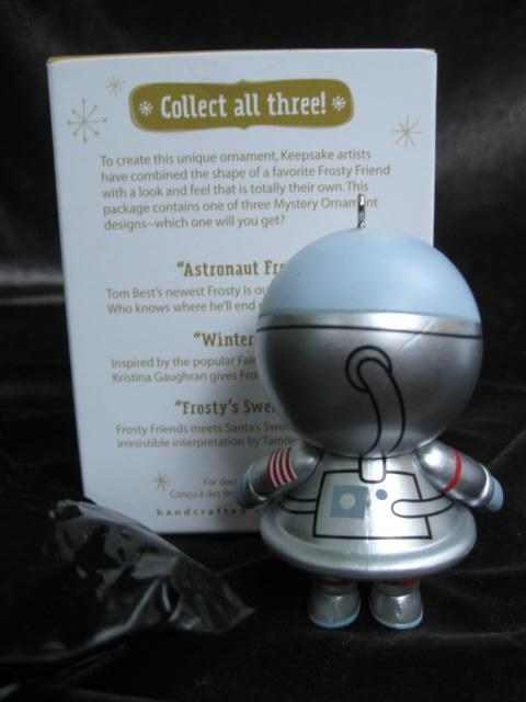 Hallmark 2012 Mystery Frosty Silver Astronaut Register To Win Repaint Christmas Tree Ornament
