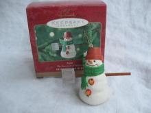 Hallmark 2000 MAX MITFORD SNOWMAN Christmas Tree Ornament