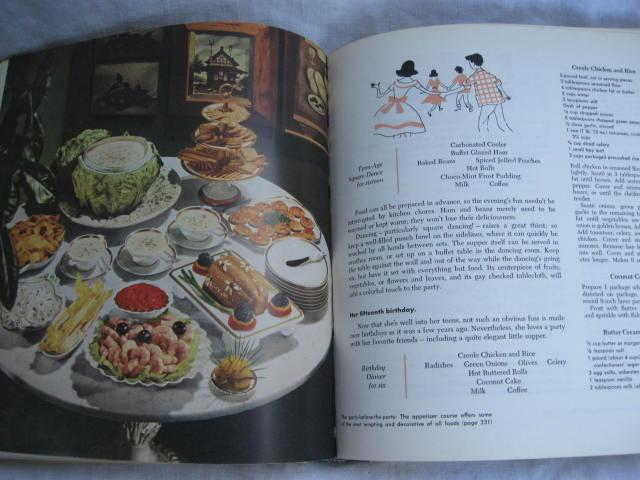 Vintage The General Foods Kitchens Cookbook  Copyright 1959 First 1st Printing