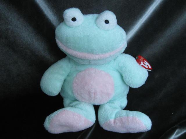 Ty Grins The Frog Pluffie NWT