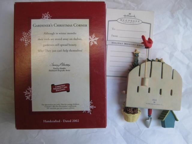 Hallmark 2002 Gardener's Christmas Corner Christmas  Tree Ornament