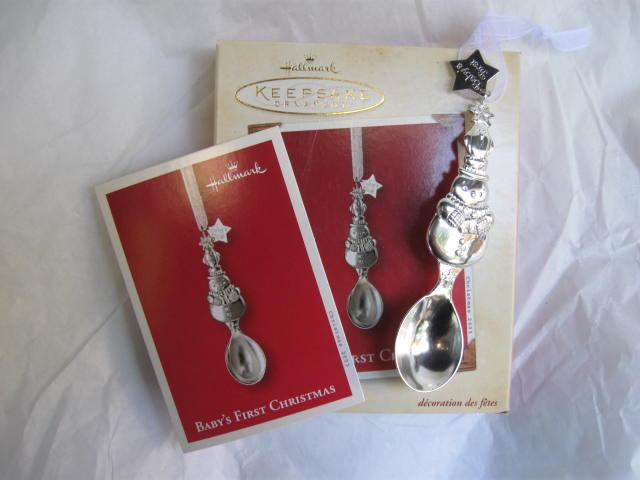 Hallmark 2003 Baby's First Christmas -  Silver Colored  Spoon Christmas Tree  Ornament