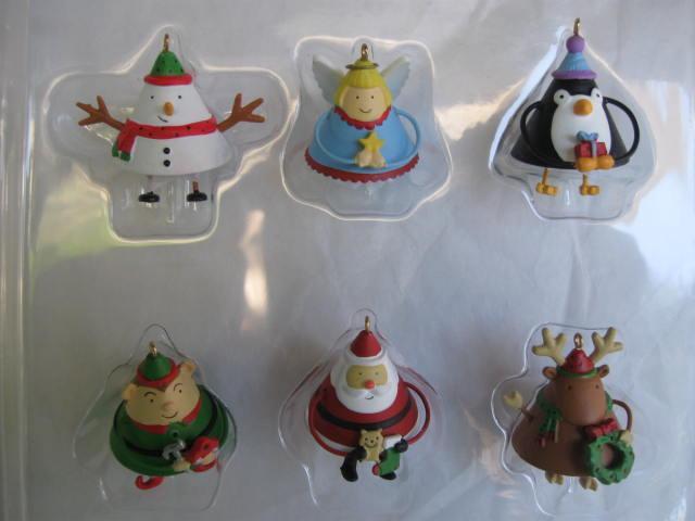 Hallmark 2007 Dancing Friends Set of 6 Christmas Tree  Ornaments
