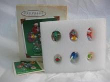 Hallmark 2002 Sugar Plum Fairies Set Of 6 Miniature Feather Tree Christmas Tree Ornaments