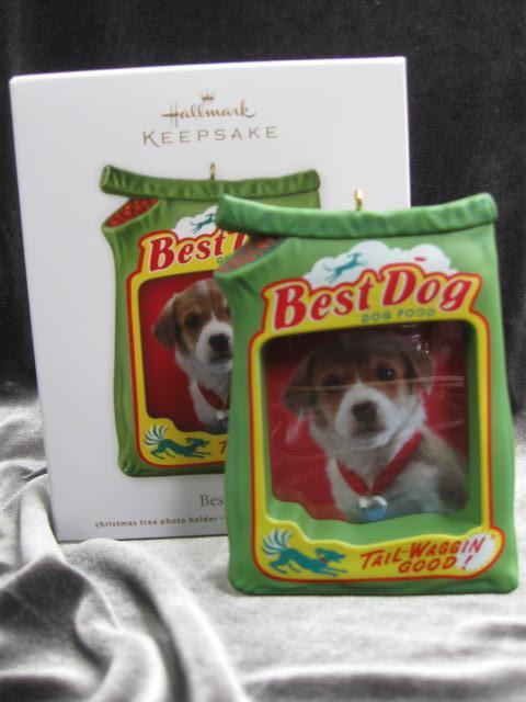 Hallmark 2012 Best Dog  Christmas Tree Ornament