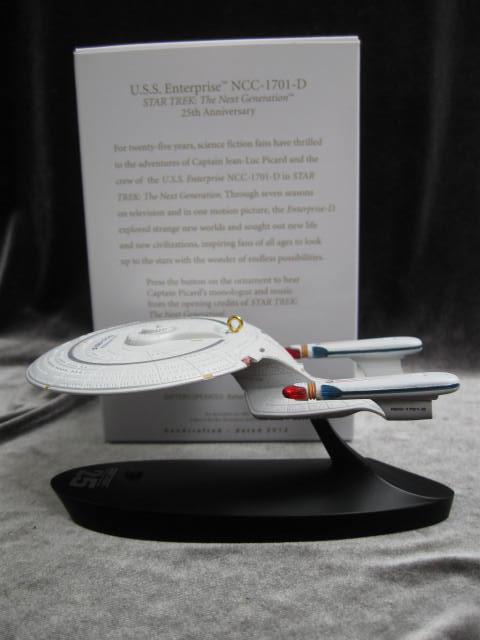 Hallmark 2012 Star Trek U.S.S. Enterpirse NCC-1701-D Magic Voice Christmas Tree Ornament