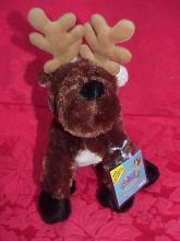 New Webkinz Retired  Christmas Reindeer  Sealed Tag + Secret Code