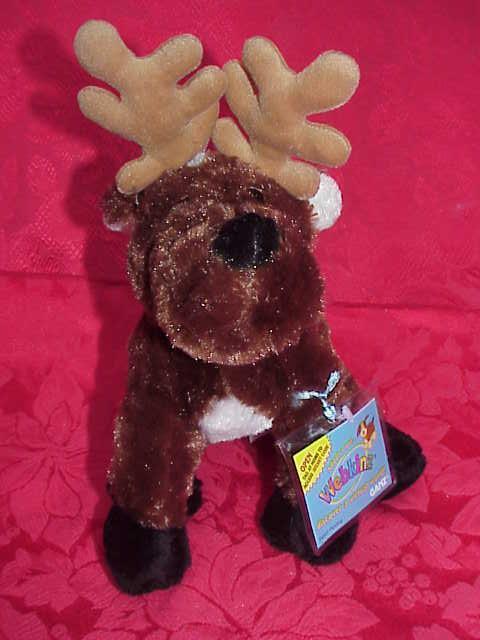 New Webkinz Retired  Christmas Reindeer  Sealed Tag + Secret Code